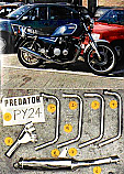 YAMAHA XJ650, XJ650 SECA (81-83) PREDATOR 4-1 SYSTEM ROAD WITH R/BAFFLE IN S/STEEL
