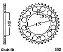 502-44 REAR SPROCKET CARBON STEEL