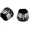 H/D END CAPS MUFFLER TIP DIFFUSER BLACK