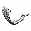 HONDA CBR600F 99-00 STAINLESS STEEL 4-1 HEADER EXHAUST DOWNPIPES OEM COMPATIBLE