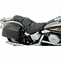 HARLEY DAVIDSON FXST,FLST SEAT CHOPPED FULL LENGTH PILLOW VINYL BLACK