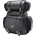 SADDLEMEN SISSY BAR BAG CD3600 REAR SYNTHETIC LEATHER BLACK