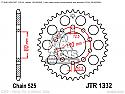 1332-40 REAR SPROCKET CARBON STEEL