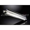 DELKEVIC EXHAUST SILENCER WITH REMOVABLE BAFFLE 450mm OVAL STAINLESS STEEL