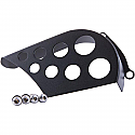 TRIUMPH FRONT SPROCKET COVER STAINLESS STEEL BLACK