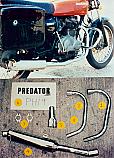 HONDA CJ250T, CJ360T, Predator 2-1 Exhaust System Road in S/Steel