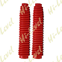 FORK GAITORS LARGE RED 350mm LONG TOP 40mm BOTTOM 60mm (PAIR)