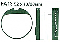 PFA013 PREDATOR DISC BRAKE PADS STD ORGANIC
