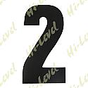 "COMPETITION NUMBER BLACK 7"" 2 MATT"
