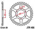488-44 REAR SPROCKET CARBON STEEL