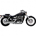 HONDA VT750DC SHADOW SPIRIT, HONDA VT750DC BLACK WIDOW 2000-2007 EXHAUST SYSTEM 2 INTO 2 STREETROD SLASH DOWN SPEEDSTER CHROME