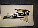 Yamaha wr250x (3d7) 2009 side panel sticker