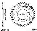 1800-44 REAR SPROCKET CARBON STEEL