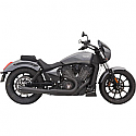 VICTORY OCTANE 2017 EXHAUST SHORT ROAD RAGE MEGAPHONE 2 INTO 1 BLACK