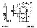 333-16 FRONT SPROCKET CARBON STEEL