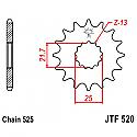 520-16 FRONT SPROCKET CARBON STEEL