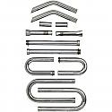 HARLEY DAVISON BUILDER'S STEEL EXHAUST PIPE KIT