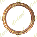 EXHAUST GASKET FLAT COPPER OD 43mm, ID 33mm, THICKNESS 4mm
