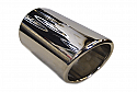 TAIL PIPE 3.5 Inch Slash In Rolled Polished Slash Lip Tailpipe 3.0inch Dia. Length aprox 6inch.