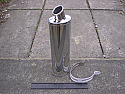 KAWASAKI ZX-10R 04-ON Oval Silencer R/Baffle in Polished Stainless