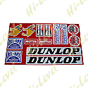 ASSORTED STICKERS DUNLOP, NGK, CHAMPION, RENTHAL, BEL-RAY (1 SET)