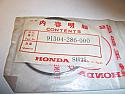 HONDA CYLINDER O-RING SEAL CB750 61.8mm x 2mm 91304-286-000