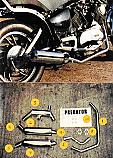 YAMAHA XV750M, XV750SE (NOT-VIRAGO) 1981-83 PREDATOR 2-2 SYSTEM ROAD WITH R/BAFFLES IN S/STEEL