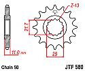 580-17 FRONT SPROCKET CARBON STEEL