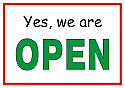 YES WE ARE OPEN THROUGHOUT THIS CRISIS 1
