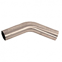 SPARK UNIVERSAL BENDED PIPE 45° DEGREE Ø 45MM STAINLESS STEEL