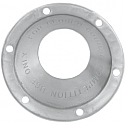 """SUPERTRAPP END CAP OPEN (FOR 4"""" DISCS) BRUSHED STAINLESS STEEL"""