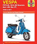 Vespa Scooters 61-78 Haynes Manual