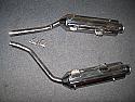APRILIA PEGASO 650 Mk1 & Mk2 (93-96) PREDATOR SILENCERS ROAD IN S/STEEL