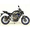 YAMAHA MT-07, YAMAHA MT-07 ABS, YAMAHA MT-07 MOTO CAGE, YAMAHA MT-07 ABS MOTO CAGE 2014-2016 FORCE FULL SYSTEM DARK STYLE (S/S) MUFFLER & S/S HEADER